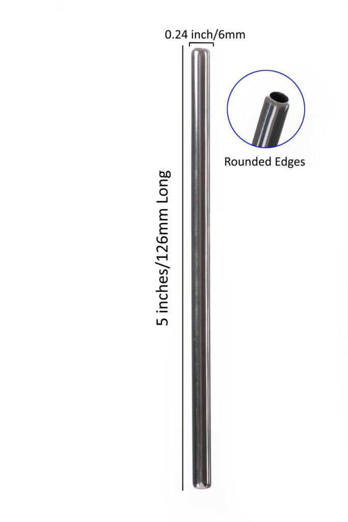 126mm*6mm Stainless Steel Straws - Bulk Stainless Steel Straws