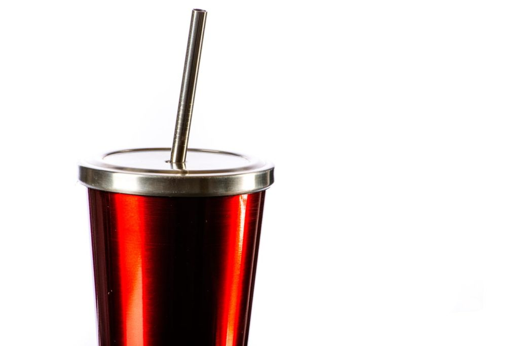 241mm*6mm stainless steel drinking straw in cup