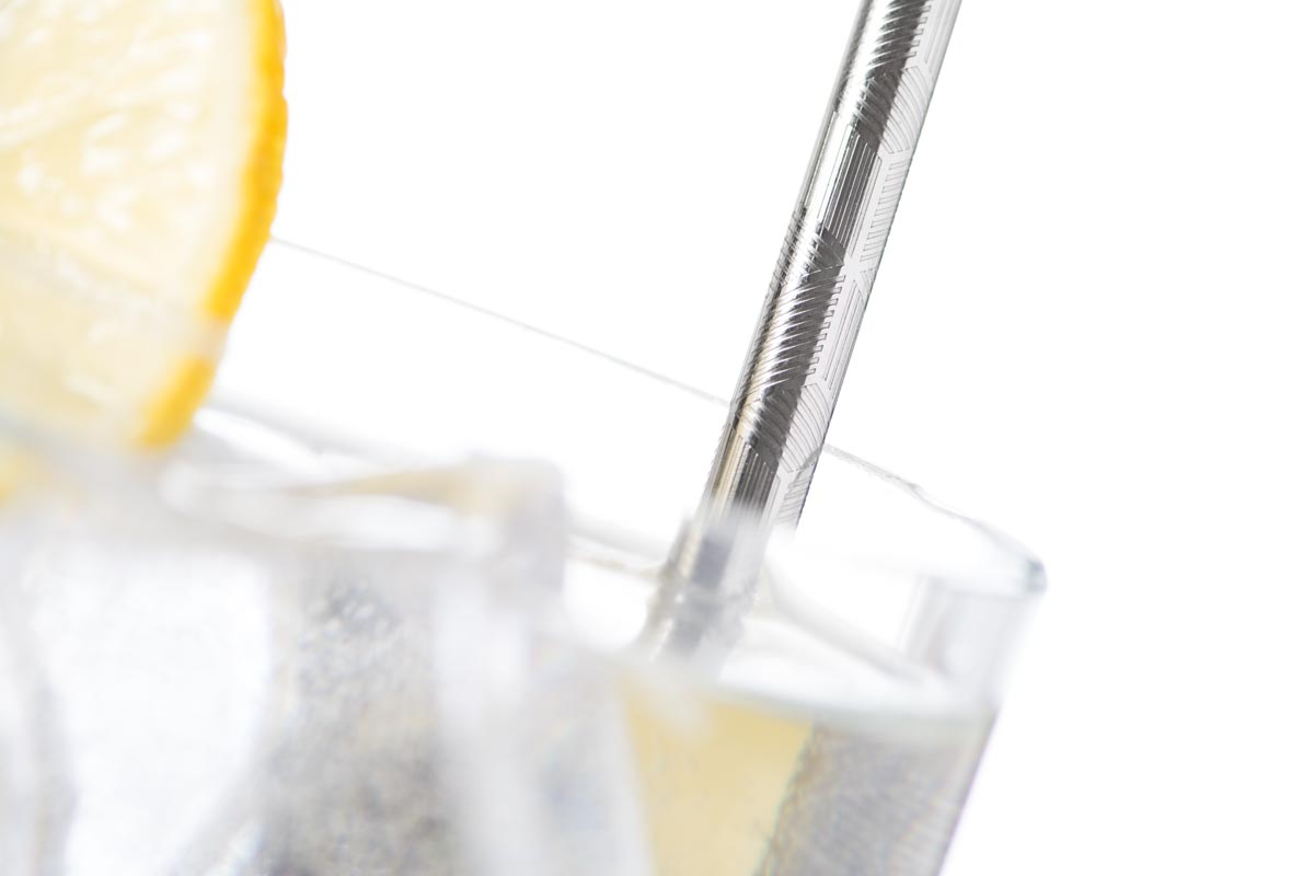 embossed stainless steel straw