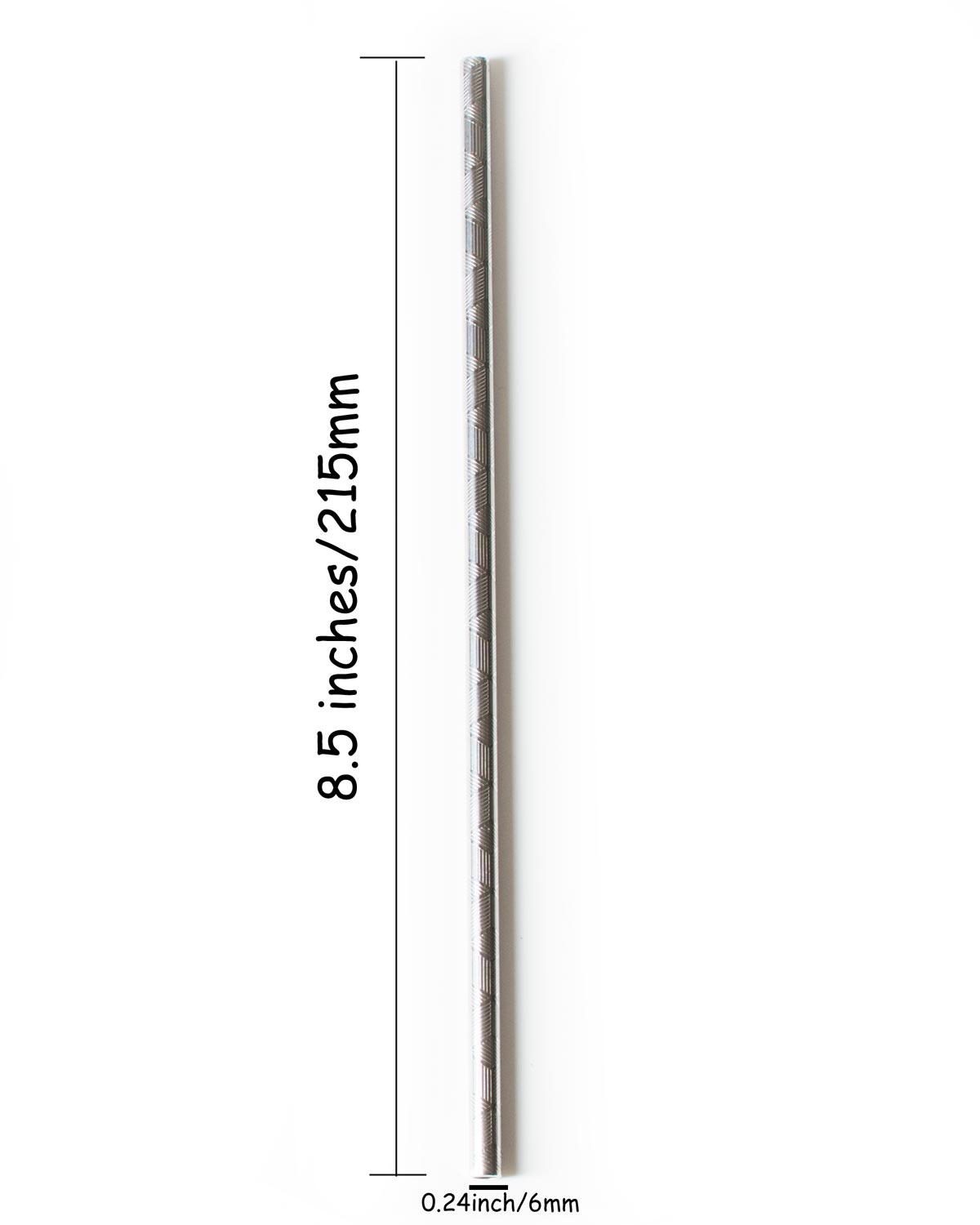 Embossed Stainless Steel Straw Dimension