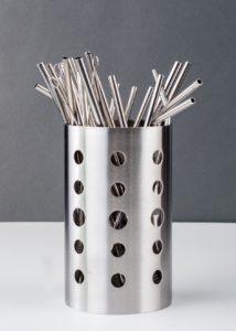 family set stainless steel straw holder dryer