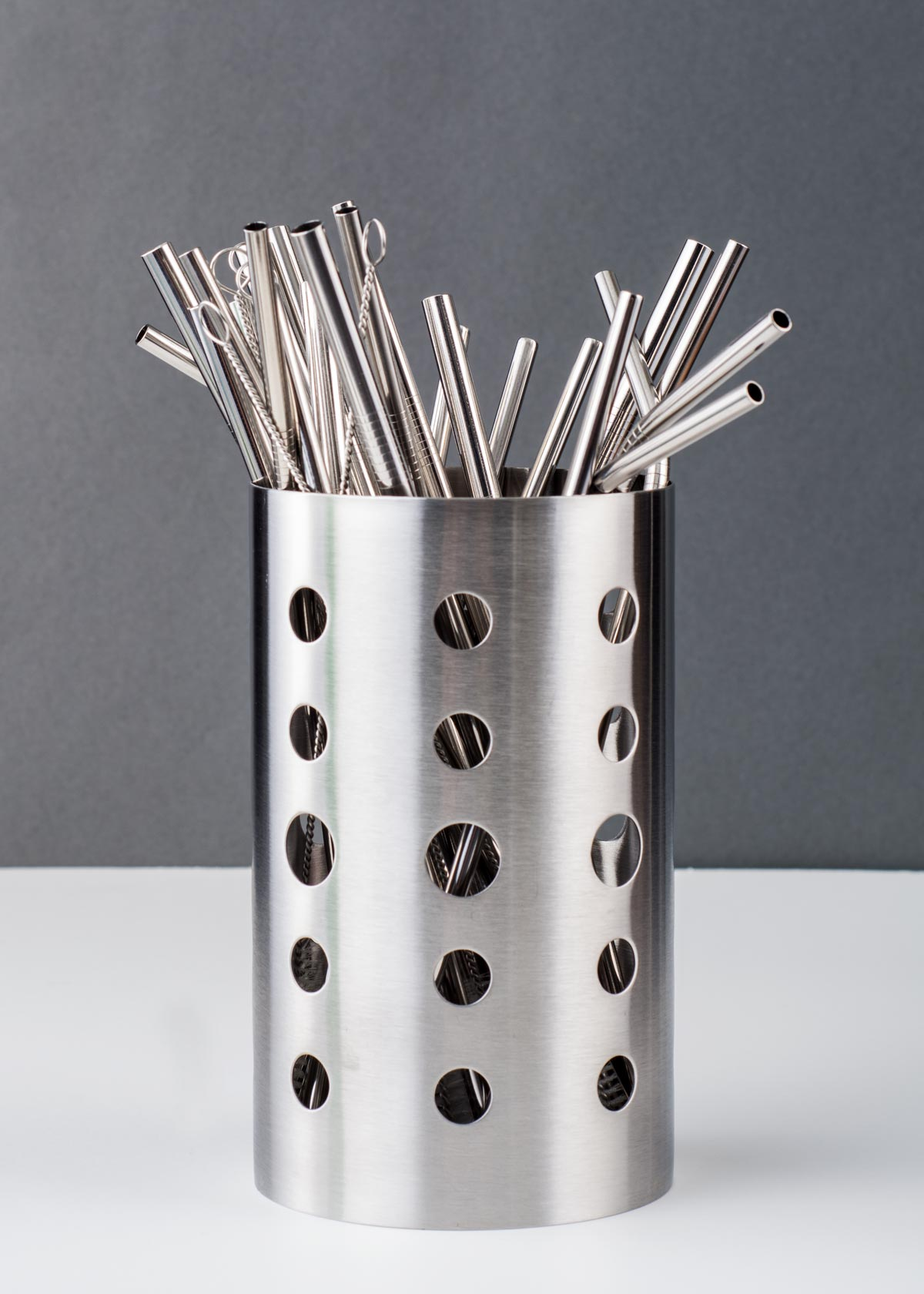 family set stainless steel straw holder dryer
