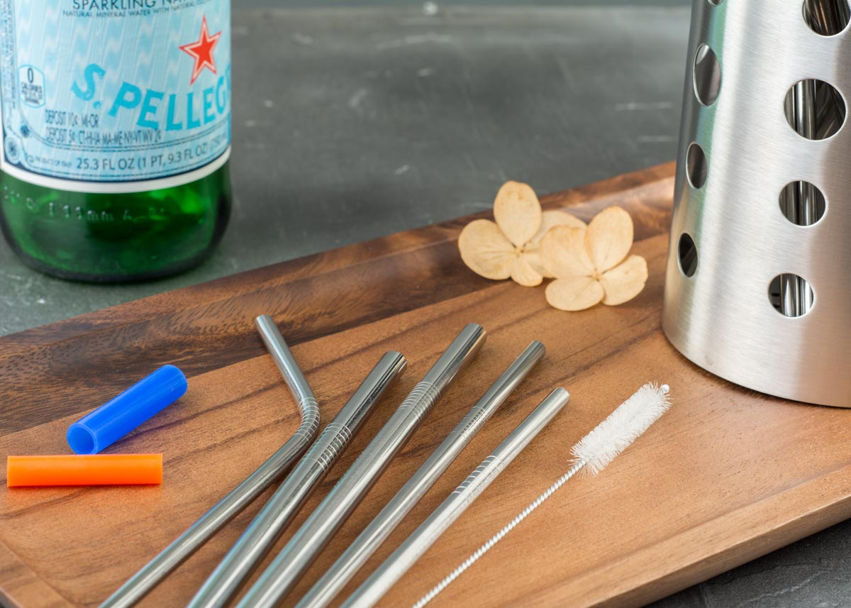 family set stainless steel straw