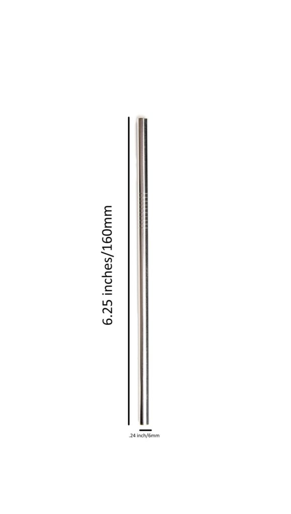 160mm * 6mm stainless steel straw