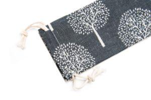 linen bag stainless steel straw