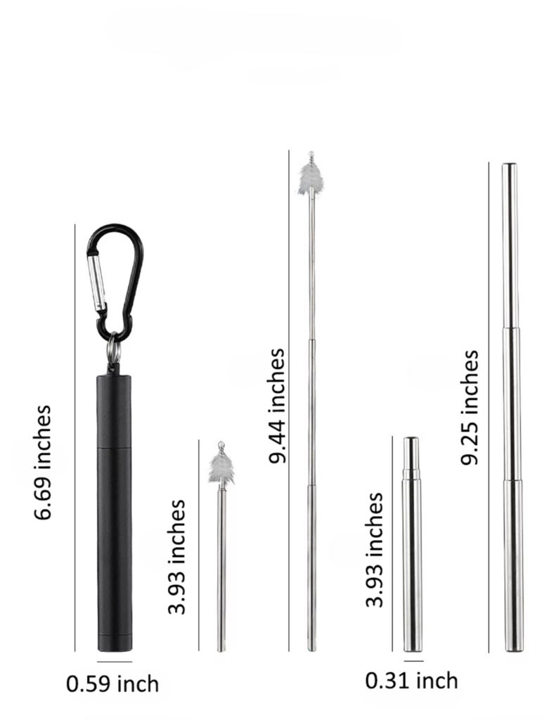 Telescoping straw measurements