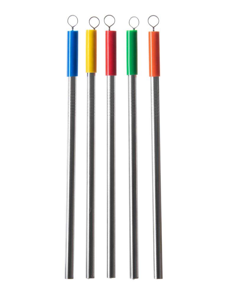 Employee appreciation gift stainless steel straw set