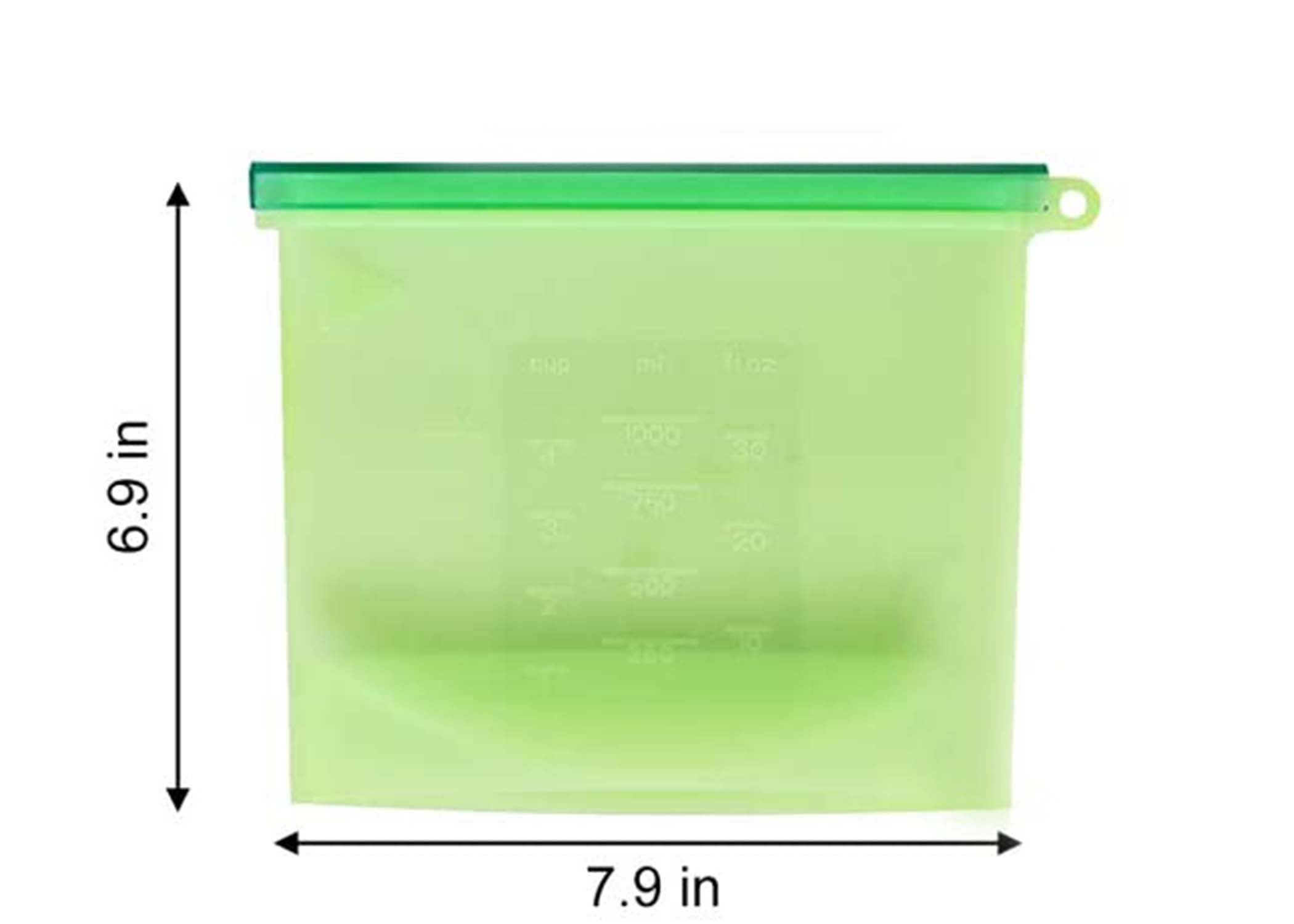 Silicone Food Bag Size