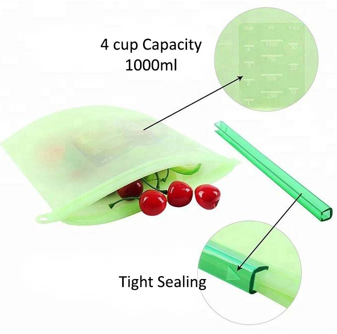 Silicone Food Bag Capacity