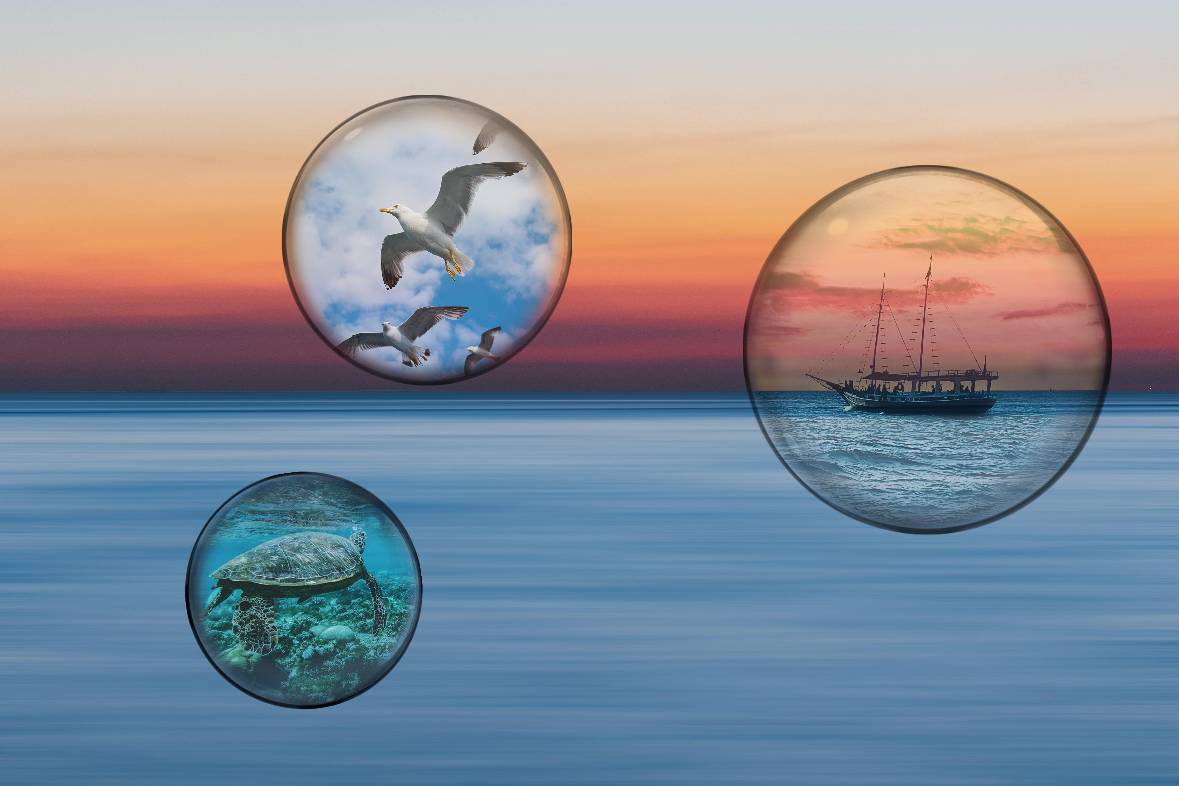 Sunset Sky Bubble Project