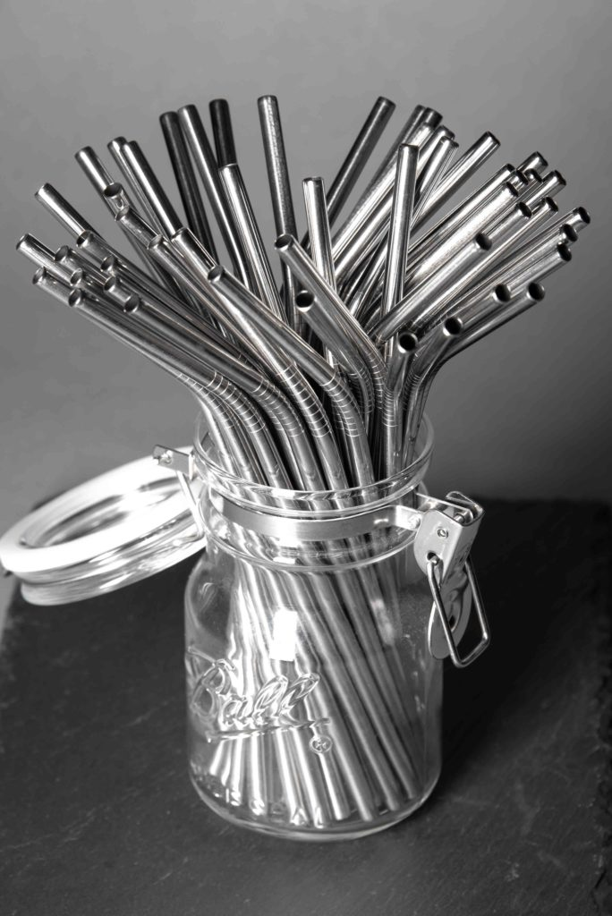 Curved Metal Straws