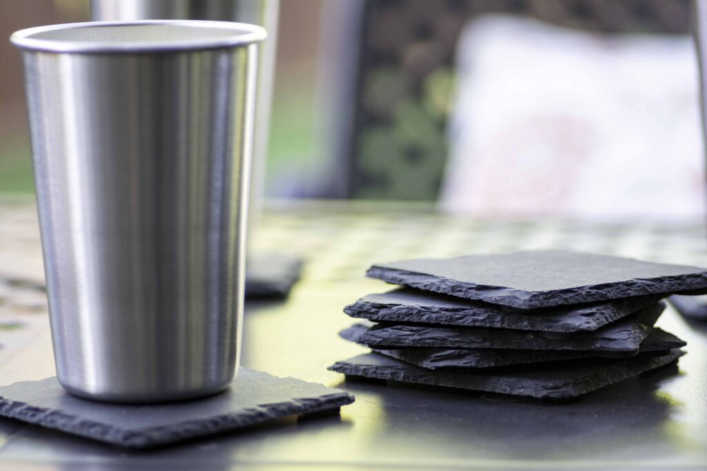 Outdoor Slate Coasters