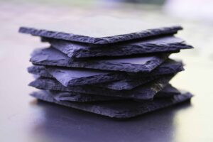 Slate Coaster Set Stacked