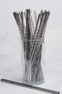 Stainless Steel Straw with Swirl
