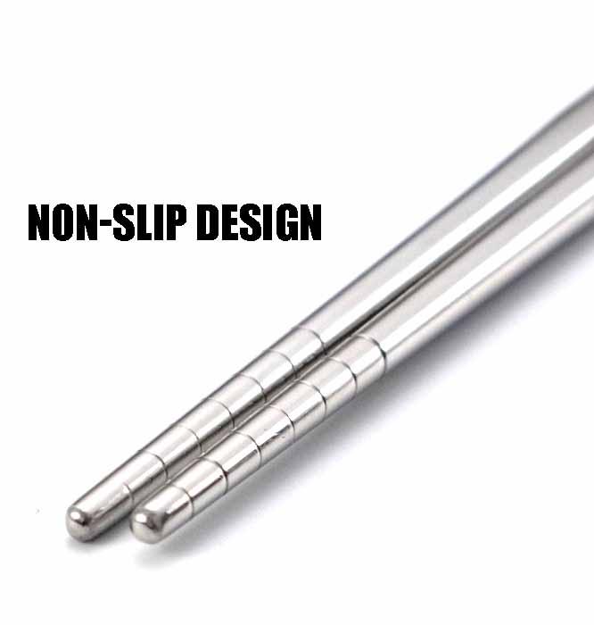 Stainless Steel Chopsticks Non-Slip End
