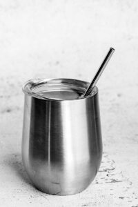 6.25 inch stainless steel straw
