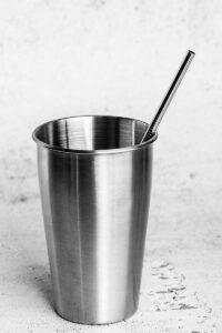 215mm regular stainless steel straw