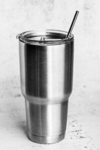 9.5 inch stainless steel straw
