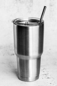 9.5 inch wide stainless steel straw