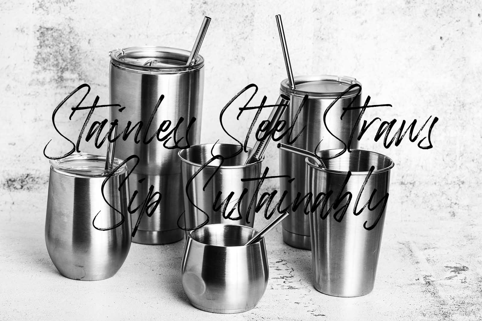 stainless steel drinking straw images