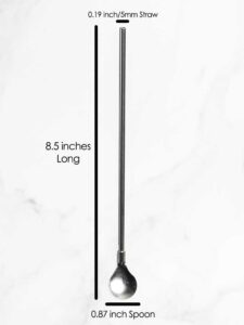 Stainless Steel Spoon Straw Measurement