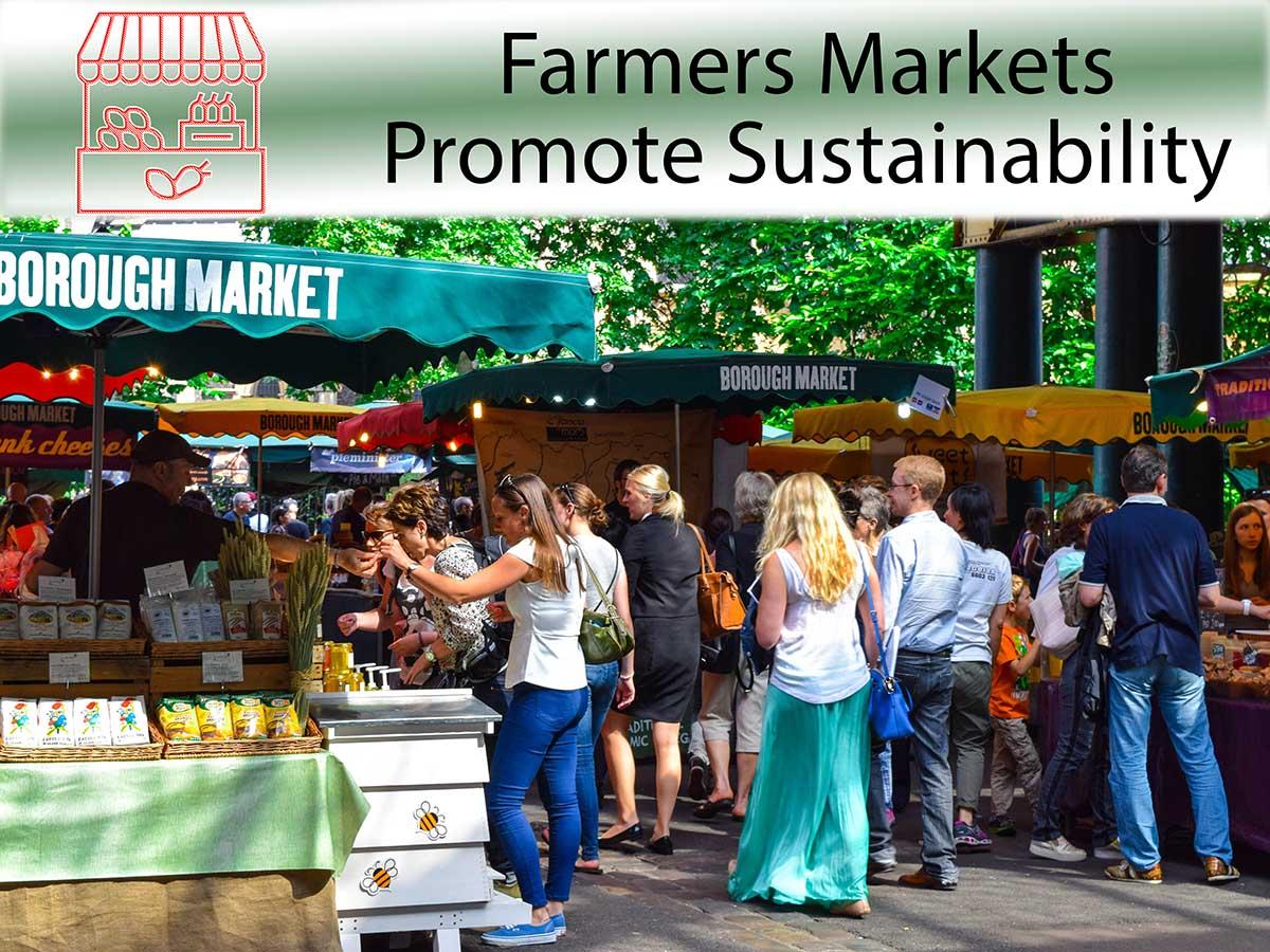farmers markets promote sustainability