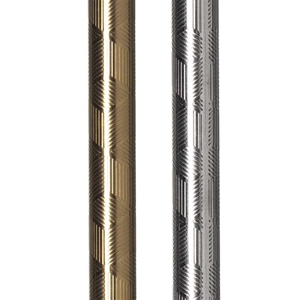 Embossed Stainless Steel Straw Close-Up